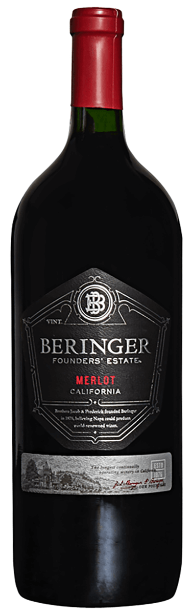 Beringer Founders' Estate Merlot - 1.5L Type: Red Categories: 1.5L, California, Merlot, quantity high enough for online, region_California, size_1.5L, subtype_Merlot. Buy today at Wine and Liquor Mart Poughkeepsie