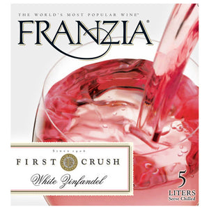 Franzia - White Zinfandel 5L Type: White Categories: 5 Liter Box, California, quantity high enough for online, region_California, size_5 Liter Box, subtype_White Zinfandel, White Zinfandel. Buy today at Wine and Liquor Mart Poughkeepsie