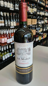 Chateau le Marin Bordeaux 750mL Type: Red Categories: 750mL, France, quantity high enough for online, Red Blend, region_France, size_750mL, subtype_Red Blend. Buy today at Wine and Liquor Mart Poughkeepsie