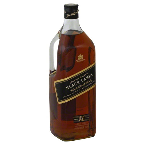 Johnnie Walker Black Label Blended Scotch Whisky 1.75L Type: Liquor Categories: 1.75L, Scotch, size_1.75L, subtype_Scotch, subtype_Whiskey, Whiskey. Buy today at Wine and Liquor Mart Poughkeepsie