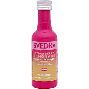 SVEDKA Strawberry Lemonade Flavored Vodka - 50mL Type: Liquor Categories: 50mL, Flavored, quantity high enough for online, size_50mL, subtype_Flavored, subtype_Vodka, Vodka. Buy today at Wine and Liquor Mart Poughkeepsie