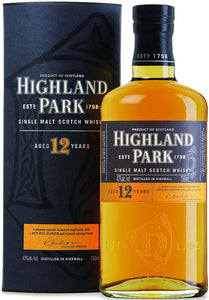 Highland Park 12 Year Old Viking Honour Single Malt Scotch Whisky Bottle 750ml Type: Liquor Categories: 750mL, Scotch, size_750mL, subtype_Scotch, subtype_Whiskey, Whiskey. Buy today at Wine and Liquor Mart Poughkeepsie