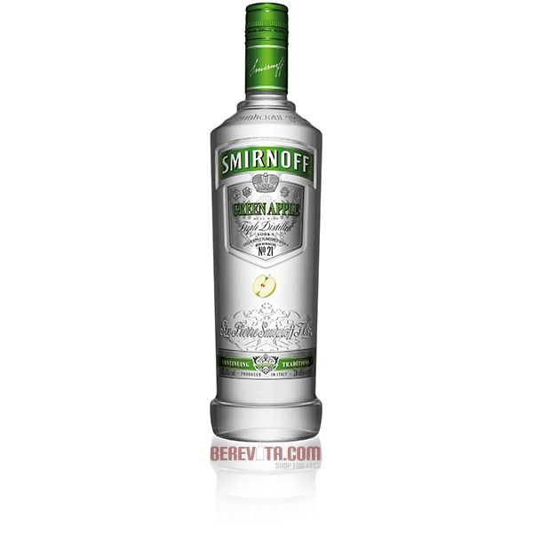 Smirnoff Green Apple Flavored Vodka 1 Liter Type: Liquor Categories: 1L, Flavored, quantity high enough for online, size_1L, subtype_Flavored, subtype_Vodka, Vodka. Buy today at Wine and Liquor Mart Poughkeepsie