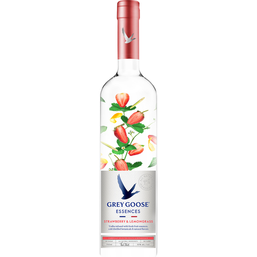 Grey Goose Essences Strawberry & Lemongrass Vodka 1L