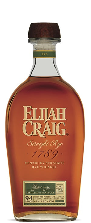 Elijah Craig Straight Rye Whiskey 750mL