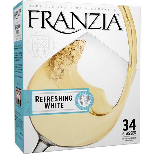 Franzia Refreshing White Wine 5L Type: White Categories: 5 Liter Box, California, region_California, size_5 Liter Box, subtype_White Blend, White Blend. Buy today at Wine and Liquor Mart Poughkeepsie
