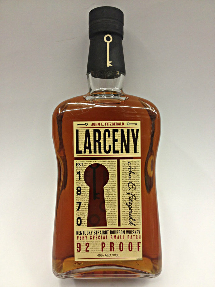 Larceny 1870 Small Batch Kentucky Bourbon Whiskey - 750mL Type: Liquor Categories: 750mL, Bourbon, size_750mL, subtype_Bourbon, subtype_Whiskey, Whiskey. Buy today at Wine and Liquor Mart Poughkeepsie