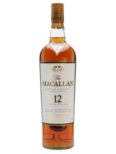 The Macallan Sherry Oak 12 Years Old 750mL Type: Liquor Categories: 750mL, quantity exception rare, Scotch, size_750mL, subtype_Scotch, subtype_Whiskey, Whiskey. Buy today at Wine and Liquor Mart Poughkeepsie