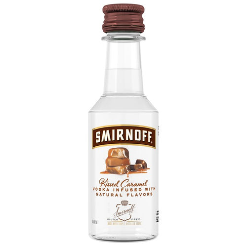 smirnoff kissed caramel 50ml Type: Liquor Categories: 50mL, Flavored, quantity high enough for online, size_50mL, subtype_Flavored, subtype_Vodka, Vodka. Buy today at Wine and Liquor Mart Poughkeepsie