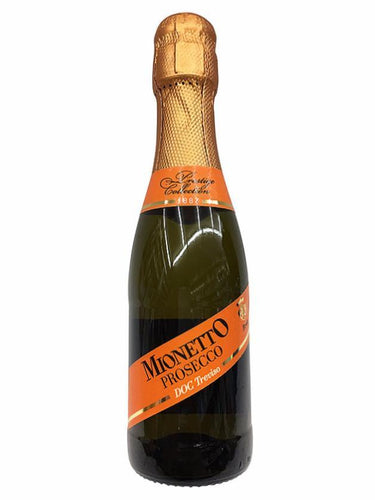 Mionetto Brut Prosecco 187mL Type: Champagne & Sparkling Categories: 187mL, Italy, Prosecco, quantity high enough for online, region_Italy, size_187mL, subtype_Prosecco. Buy today at Wine and Liquor Mart Poughkeepsie