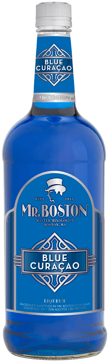 Mr. Boston Blue Curacao 1 L Type: Liquor Categories: 1L, Liqueur, quantity high enough for online, size_1L, subtype_Liqueur. Buy today at Wine and Liquor Mart Poughkeepsie