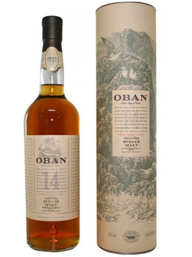 OBAN 14 Year Old Scotch Whiskey 750mL Type: Liquor Categories: 750mL, Scotch, size_750mL, subtype_Scotch, subtype_Whiskey, Whiskey. Buy today at Wine and Liquor Mart Poughkeepsie