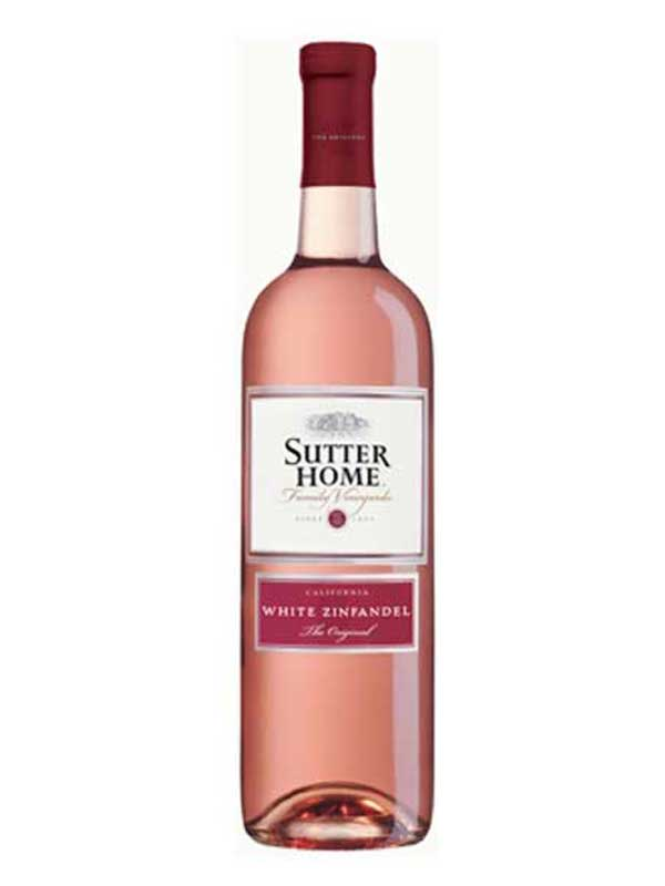 Sutter Home White Zinfandel 750mL Type: Pink Categories: 750mL, California, quantity high enough for online, region_California, size_750mL, subtype_White Zinfandel, White Zinfandel. Buy today at Wine and Liquor Mart Poughkeepsie
