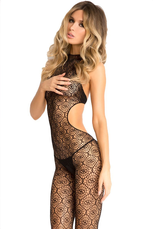Indiscreet Crochet Spidernet Bodystocking
