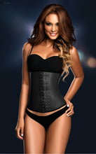 Load image into Gallery viewer, Ann Chery 2021 3 Row Deluxe Black Latex Waist Trainer Cincher – No Straps