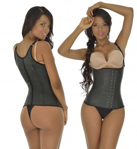3 ROW 2028 Waist Training Corset Girdle Full Vest (Adjustable Straps)