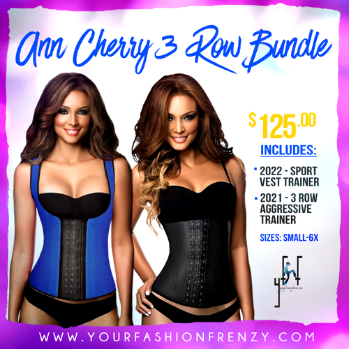 Ann Chery 3 Row Bundle Includes 2021 Waist Trainer and 2022 Chaleco Corset Girdle Full Sport Vest