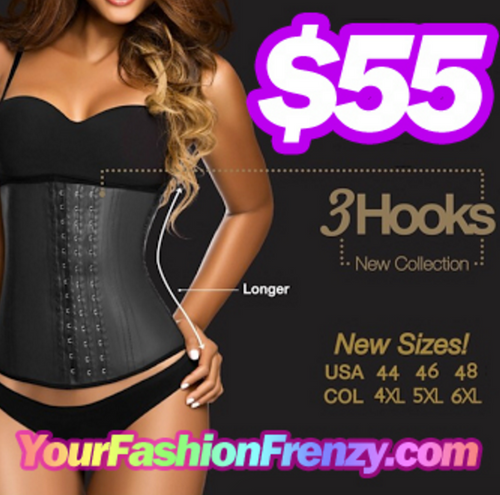 Ann Chery 2021 3 Row Deluxe Black Latex Waist Trainer Cincher – No Straps