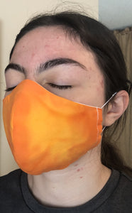 022 Citrus Handmade Protective Fashion Face Mask- 100% Sterilized- includes replacable filter