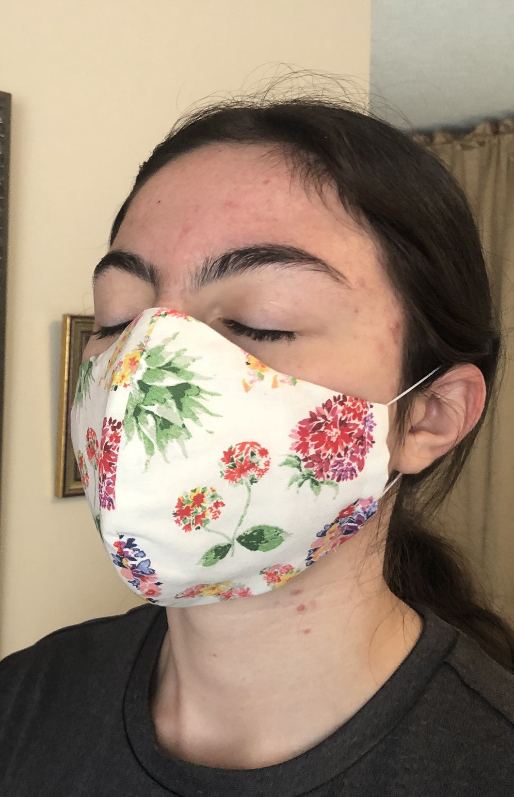 024 Sweet Flowers Handmade Protective Fashion Face Mask- 100% Sterilized- includes replacable filter