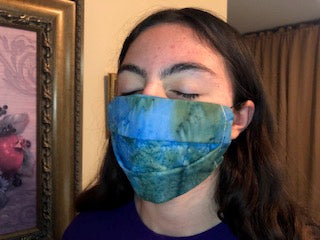 054 Underwater Ocean (2PLY) Handmade Protective Fashion Face Mask- 100% Sterilized