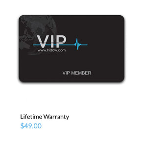 VIP MEMBERS LIFETIME WARRANTY CARD