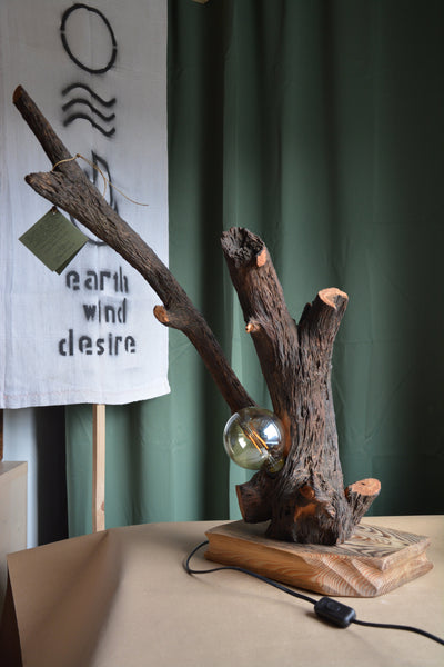 UPCYCLED Forest Lamp / Driftwood - Modern - Eco Friendly -  Lifestyle / Minimal - Home Accent