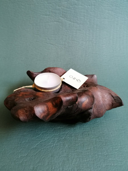 UPCYCLED Candle Holder / Driftwood - Modern - Eco Friendly - Yoga Lifestyle / Minimal - Home Accent 4