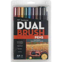 Tombow Dual Brush Markers 10/Pkg--Muted Palette - aplusstorenz