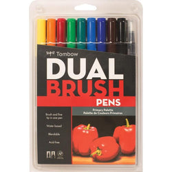 Tombow Dual Brush Markers 10/Pkg--Primary Palette - aplusstorenz
