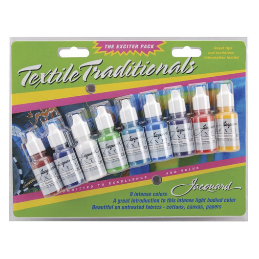 Jacquard Textile Traditionals Exciter Pack .5oz 9/Pkg - aplusstorenz