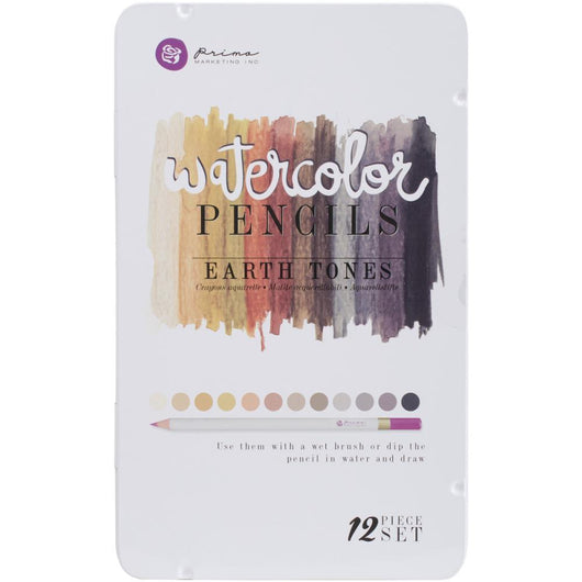 Prima Marketing Watercolor Pencils 12/Pkg Earth Tones - aplusstorenz