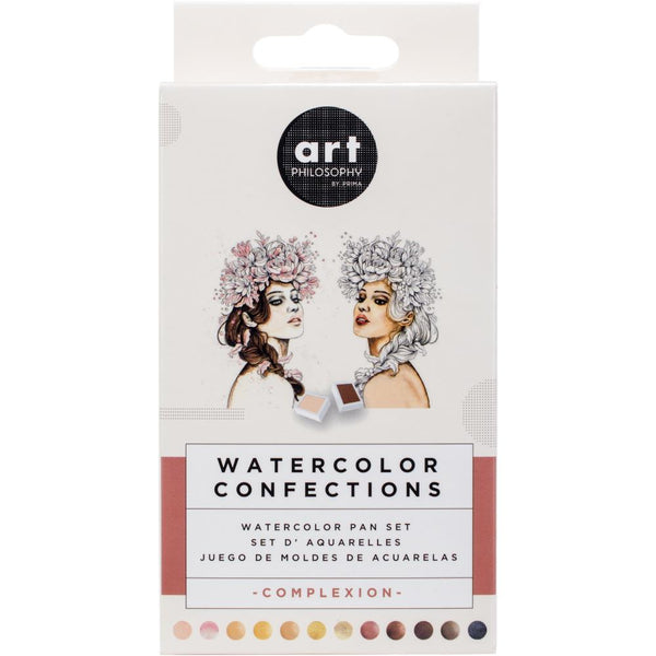 Prima Watercolor Confections Watercolor Pans 12/Pkg Complexion - aplusstorenz
