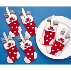 Design Works Felt Silverware Pockets Applique Kit 4