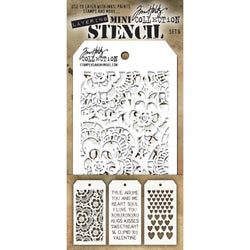 Tim Holtz Mini Layered Stencil Set 3/Pkg Set #6