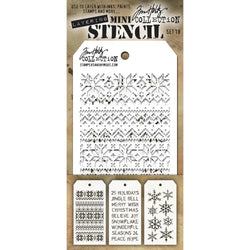 Tim Holtz Mini Layered Stencil Set 3/Pkg Set #18