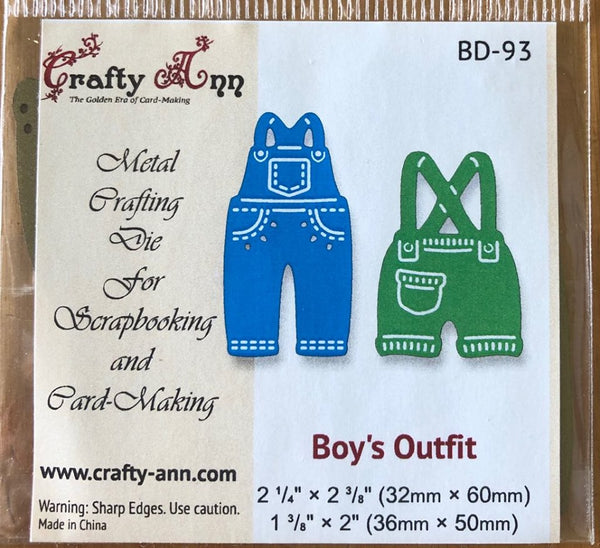 Crafty Ann - Dies - BD-93 Boy's Outfit