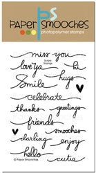 Paper Smooches stamps Scripty Sayings