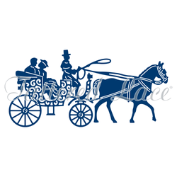Tattered lace Horse and Carriage die