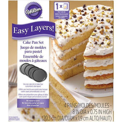 Wilton Easy Layers Cake Pans 4/Pkg Round 8