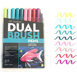 Tombow Dual Brush Markers 10/Pkg--Tropical Palette - aplusstorenz