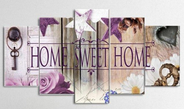Broderie diamant XXL Home Sweet Home