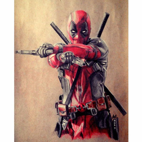 Broderie Diamant 5D Super Héros Deadpool