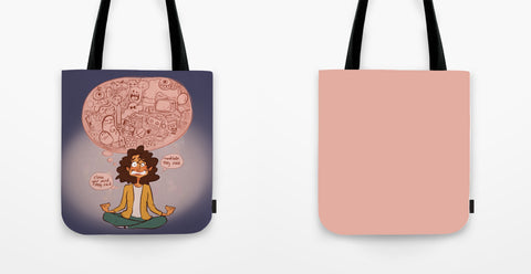 "Full Print Tote Bag - ""Clear Your Mind"""
