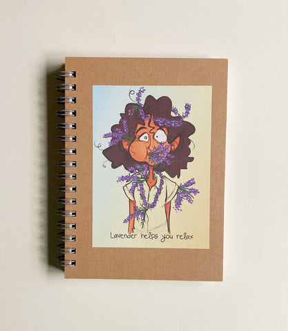 Plain Beige Notebook - Lavender