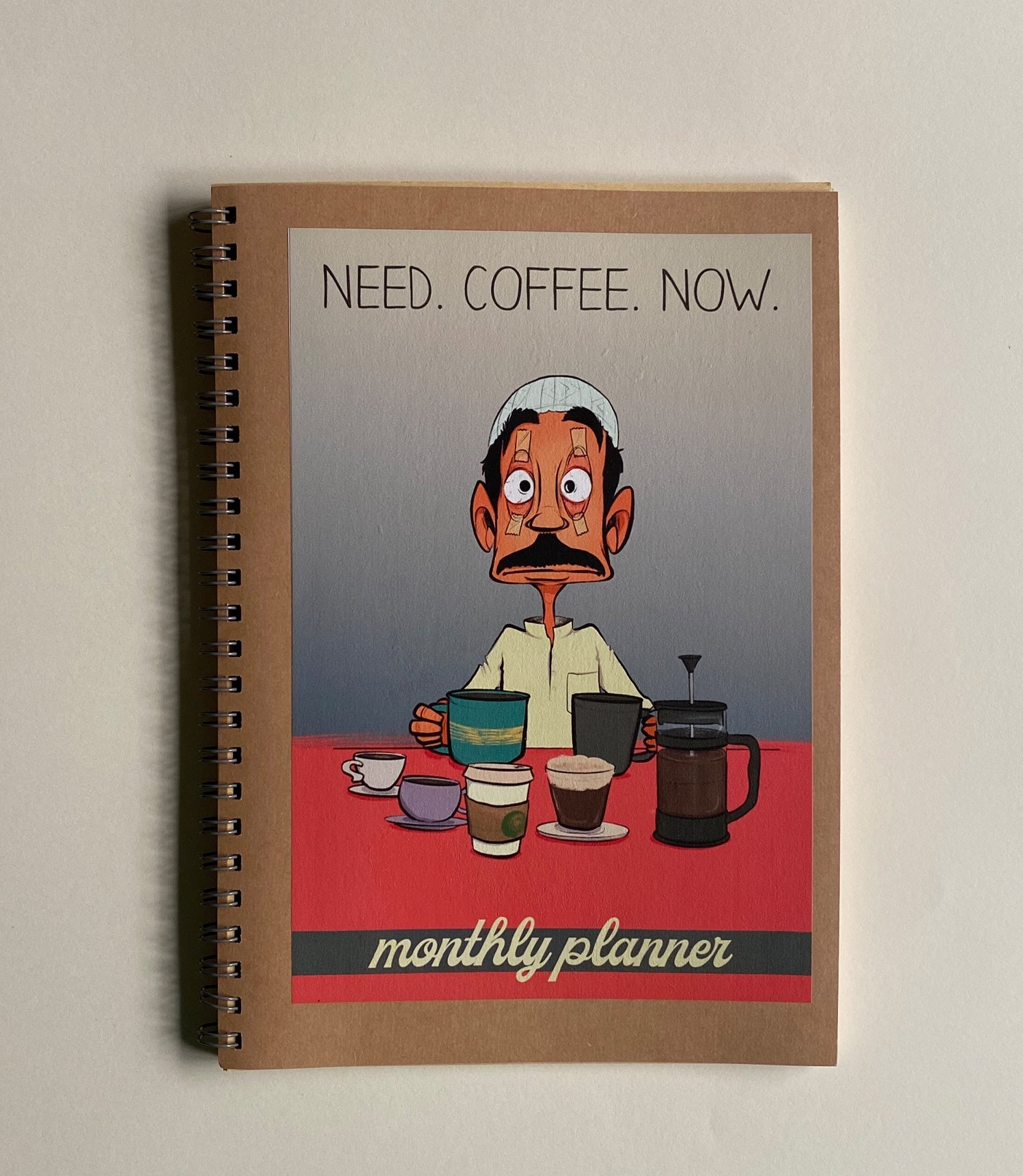 Monthly Planner - Coffee Guy