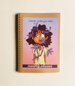 Monthly Planner - Lavender