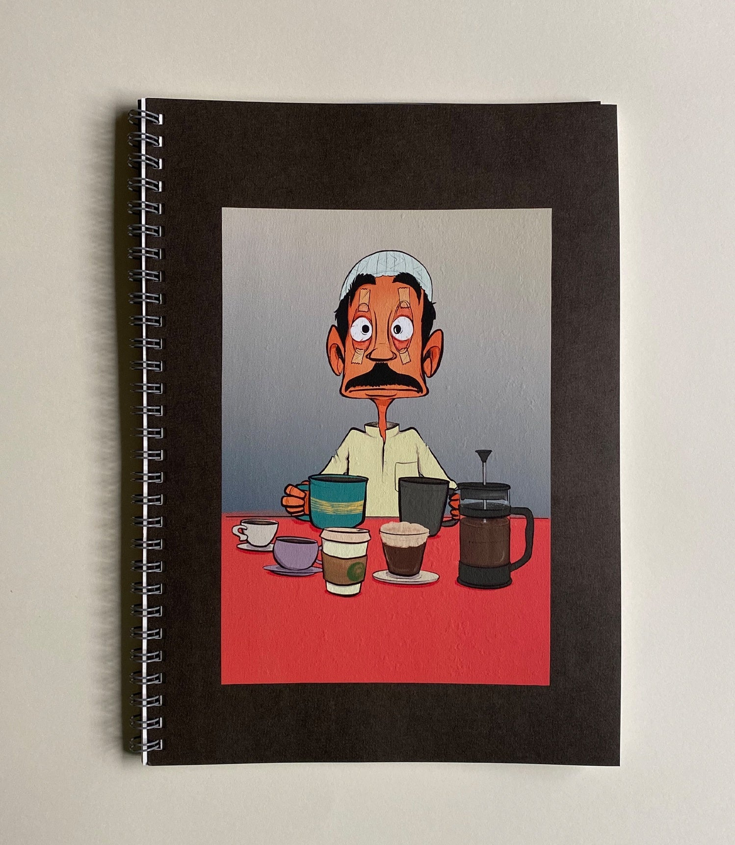 Lined Gray Notebook - Coffee Guy