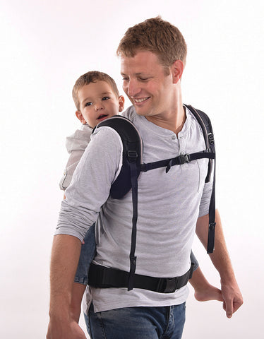 Cococho Baby Carrier- Back carry position with a toddler