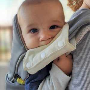 Cococho Baby Carrier - teething pads infant to toddler Grey